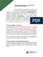 Contrato de Prestacaoo de Servicos Profissionais de Arquitetura e Urbanismo i