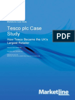Tesco Plc Case Study.