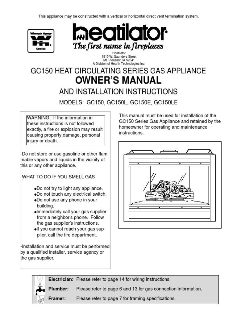 Heatilator a36r owner's manual pdf download.
