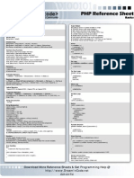 Php Reference Sheet