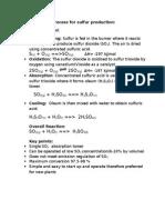 sulphur production