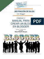 Manual Para Crear Un Blog en Blogger
