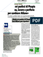 Basta coi pasticci di Pisapia. Sicurezza, lavoro e periferie per cambiare Milano