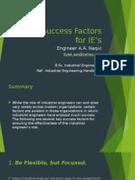 Key Success Factors for IE's