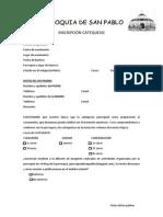 Inscripción Catequesis en PDF