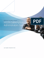 MSDN Subscription Administration Guide 3.3