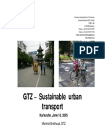 Sustainable Urban Transportation