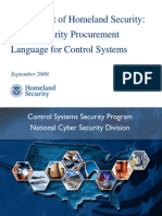 DHS National Cyber Security Division Cyber Security Procurem