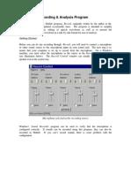 1.1 Matlab Recording & Analysis Program