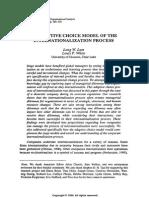 An Adaptive Choice Model of the Internationalization Process. in International Journal of Organizational Analysis