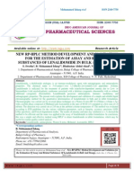 NEW RP-HPLC METHOD DEVELOPMENT AND VALIDATION FOR THE ESTIMATION OF ASSAY AND RELATED SUBSTANCES OF LENALIDOMIDE IN BULK AND DOSAGE S. Swetha,B. Mohammed Ishaq*,Hindustan Abdul Ahad,Vanitha Prakash