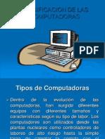 Clasificacion de Las Computadoras