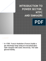 Introduction to Power Sector and NTPC