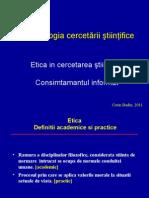 Curs Etica in Cercetare Ian 2013