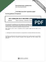 0511 s11 Ms 41 Mark Scheme