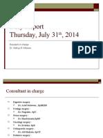 2 Thursday 31 July 2014 Dr Wahyu