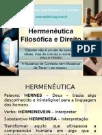 Hermenêutica Filosófica & Direito