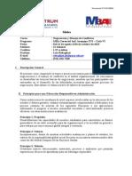 141021 MBA G - Negociación y Manejo de Conflictos