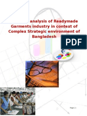 Business analysis of Readymade Garments industry in context