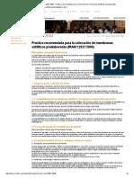 Ormiflex - Norma IRAM 12627_2008 - Práctica Recomendada Para La Colocación de Membranas Asfálticas Preelaboradas