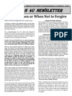 Sept 15 Divining When and When Not to Forgive
