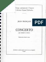 J.Francaix Clarinet Concerto