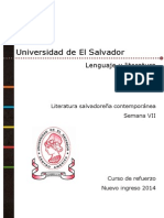 Material semana 7 de [Lenguaje y literatura] [Literatura salvadoreña contemporánea] versión pdf.pdf