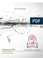 Material Semana 14 de [Lenguaje y Literatura] [La Oración Compleja] Versión PDF