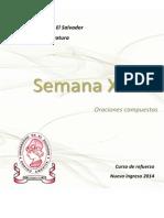 Material Semana 13 de [Lenguaje y Literatura] [Oraciones Compuestas] Versión PDF