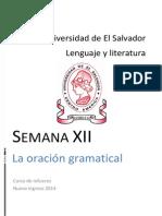 Material Semana 12 de [Lenguaje y Literatura] [La Oración Gramatical] Versión PDF
