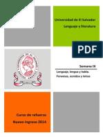 Material semana 9 de [Lenguaje y literatura] [Lenguaje, lengua y habla. Fonemas, sonidos y letras] versión pdf.pdf