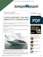 Cruzeiros Marítimos_ Dicas Para Marinheiros de Primeira Viagem _ Guardanapo de Papel