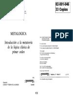 HUNTER - Metalogica - Parágrafos 17 a 32 (Cap. 1-4)