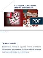 Bloqueo, Etiquetado y Control de Energías Peligrosas 22082015