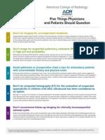 5things 12 Factsheet Amer Coll Radiology