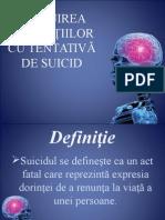 ÎNGRIJIREA PACIENŢIILOR CU TENTATIVĂ de suicid.ppt