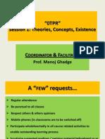 Manoj Ghadge_OTPR Course Session 1