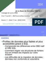 S11 Modernisation DB2 Des DDS SQL