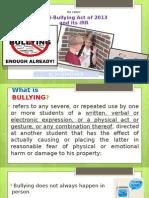 Ra 10627 Anti Bullying