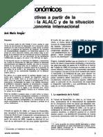 ALADI, Perspectivas a Partir de La Experiencia de La ALALC y de La Situación Actual de La Economía Mundial - Aragao - IADB