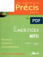 Précis Physique - Exercice MPSI (Www.livre-technique.com)