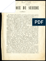 PAul Robin, Technique du suicide, 1901