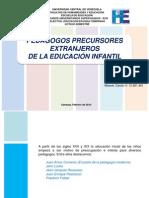 Pedagogos Precursores Extranjeros de La Educación Infantil