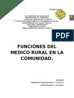 Funciones Del Medico Rural