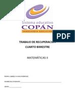 Trabajo de Recuperacion Del 4tobim Matematicas II
