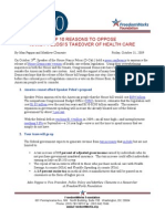 10-30-09 Top 10 Reasons to Oppose Pelosi-care