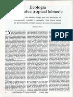 Ecología de La Selva Tropical Húmeda