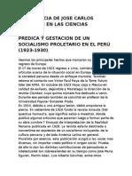 Importancia de Jose Carlos Mariategi en Las Ciencias Sociales