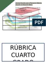 Rúbrica Cuarto Grado Español Bloque I