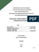 ANÁLISIS DEL COMPORTAMIENTO DEL SECTOR AGROPECUARIO EN PANAMÁ